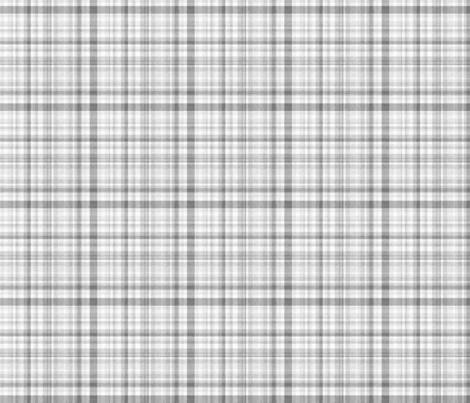 Grey Linen Plaid fabric by longdogcustomdesigns on Spoonflower - custom fabric