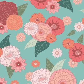 floral on teal (big)