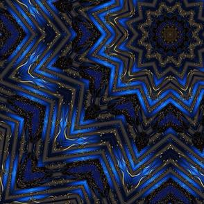 Blue Ribbon Star Kaleidoscope