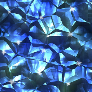 Blue Crystal Pattern