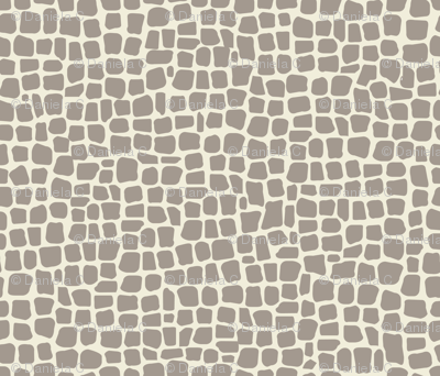 africa africa giraffe print - taupe