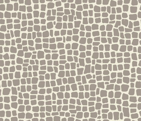 africa africa giraffe print - taupe fabric by booboo_collective on Spoonflower - custom fabric