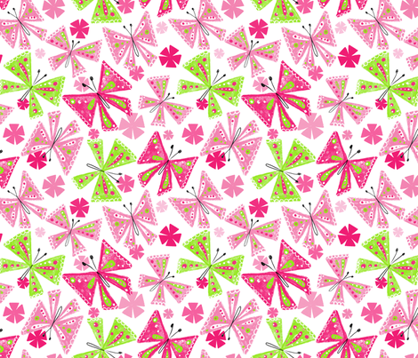 Abstract Butterflies fabric by karapeters on Spoonflower - custom fabric