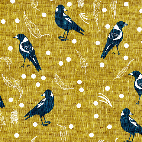 Terra Australis Maggies (MED) fabric by nouveau_bohemian on Spoonflower - custom fabric