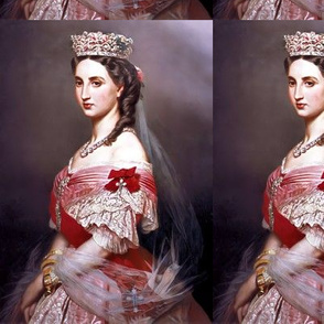 queens princesses crowns tiaras white red pink gowns bridal bride tiaras bows baroque victorian wedding marriage coronation beauty royal roses crucifixes crosses order ringlets diamond necklaces empresses ballgowns rococo royal portraits beautiful lady wo