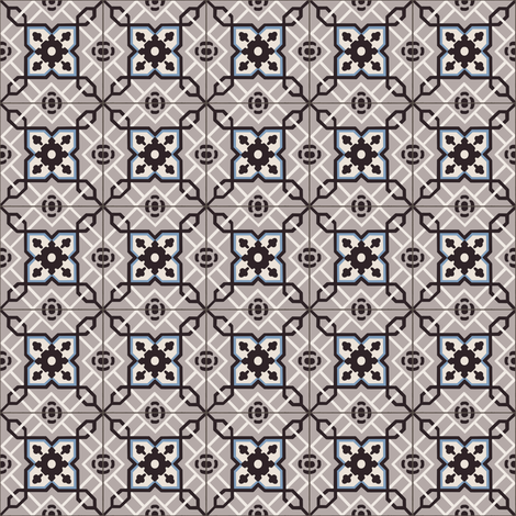 Small Antique Tiles fabric by arts_and_herbs on Spoonflower - custom fabric