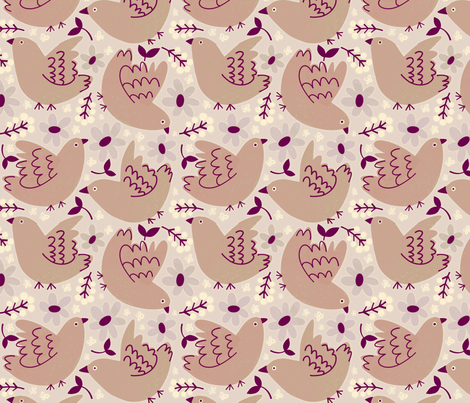Birds and blooms fabric by anda on Spoonflower - custom fabric