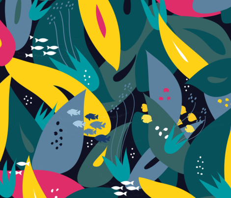 Pacific Ocean fabric by agathests on Spoonflower - custom fabric