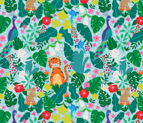 Its a Jungle Out There fabric by mabletandesigns on Spoonflower - custom fabric