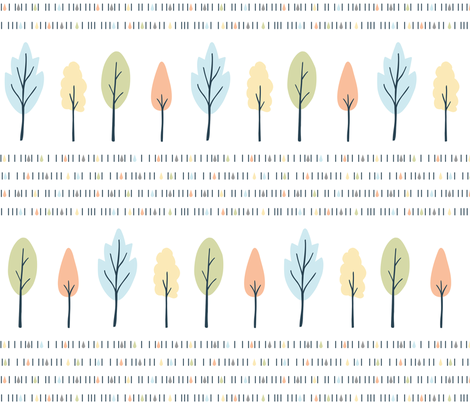 Winter_Trees_Hero fabric by eva_martínez on Spoonflower - custom fabric