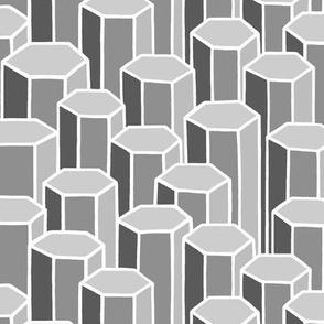 Grey Hexagonal