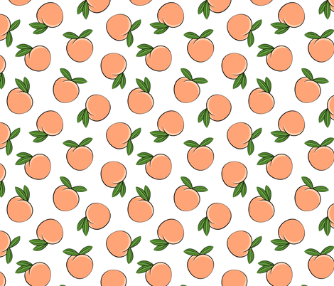peaches  fabric by littlearrowdesign on Spoonflower - custom fabric