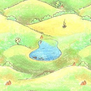 Pond scape