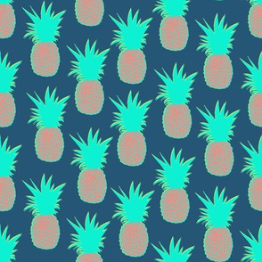 Pineapples (Prussian Blue)