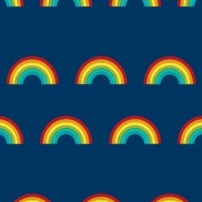 rainbow fabric cute nursery kids decor navy
