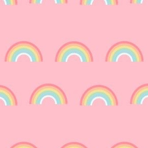 rainbow fabric cute nursery kids decor pink