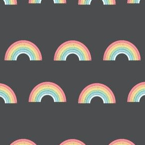 rainbow fabric cute nursery kids decor dark