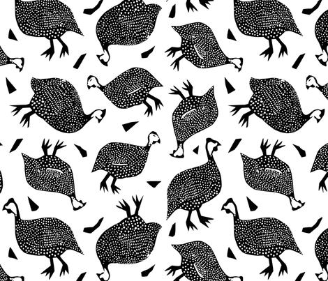 Giddy Guinea Fowl fabric by janetdrummond on Spoonflower - custom fabric
