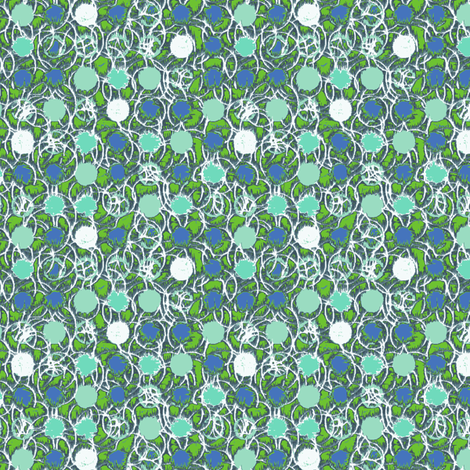 Tropicana twisted dots green fabric by susiprint on Spoonflower - custom fabric