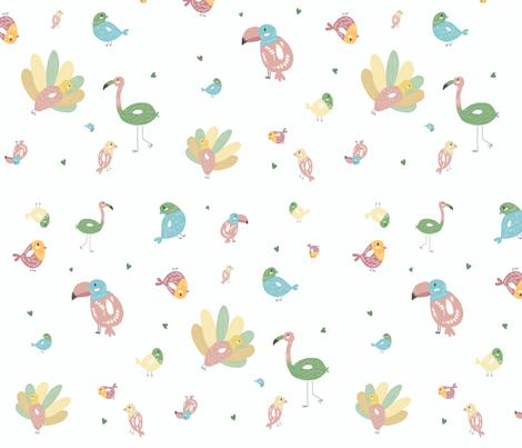 Lovely Birds fabric by lystilinski on Spoonflower - custom fabric