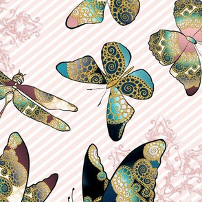 Fairytale Butterflies and Dragonfly 9