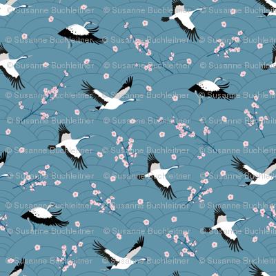 SpringCranes_bluegrey2