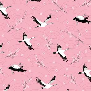 SpringCranes_coralrose