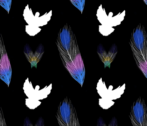 Birds of A Feather The REMIX fabric by aliece_b_design on Spoonflower - custom fabric
