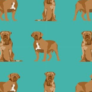 french mastiff simple dog breed fabric blue