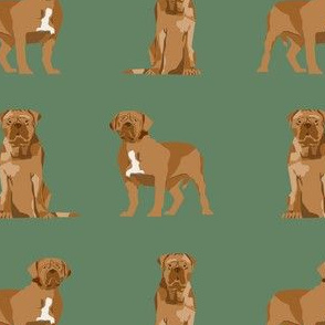 french mastiff simple dog breed fabric green