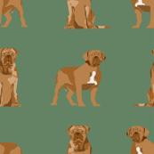 french mastiff simple dog breed fabric green