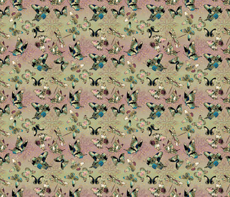Fairytale Butterflies and Dragonfly fabric by pearlposition on Spoonflower - custom fabric