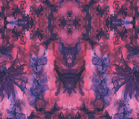 Dream Butterfly Kaleidascope - Purple and Pink fabric by art_rat on Spoonflower - custom fabric