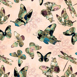Fairytale Butterflies and Dragonfly 3