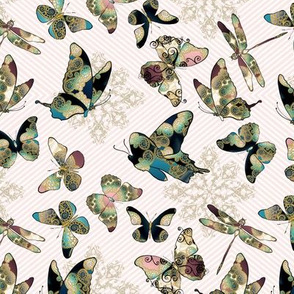 Fairytale Butterflies and Dragonfly 5