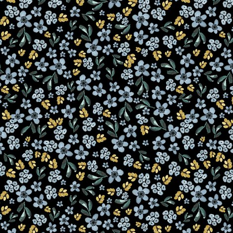 Rwestern-autumn-blue-and-gold-florals-black_shop_preview