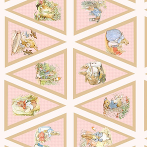 Peter Rabbit Beatrix Potter Light Pink Bunting
