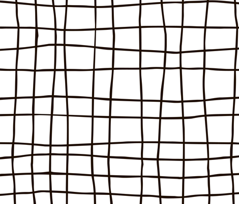Grid pattern fabric by molecula on Spoonflower - custom fabric