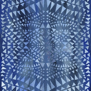 triangle tribal denim