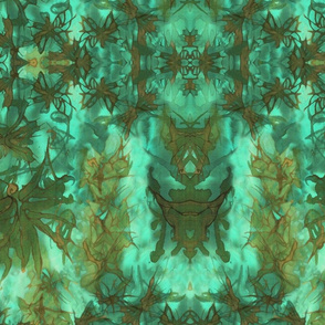 Dream Butterfly Kaleidascope - Gold and Aqua