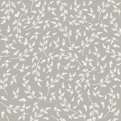 """8"""" WESTERN AUTUMN WHITE BRANCHES LIGHTER TAUPE BACKGROUND"""