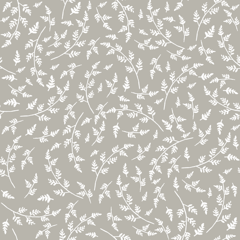 """8"""" WESTERN AUTUMN WHITE BRANCHES LIGHTER TAUPE BACKGROUND fabric by shopcabin on Spoonflower - custom fabric"""