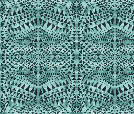 triangle tribal moss fabric by schatzibrown on Spoonflower - custom fabric