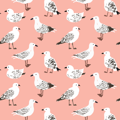 Seagulls fabric by alison_janssen on Spoonflower - custom fabric