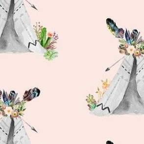 "5"" Wild Love Teepee / Peach Background"