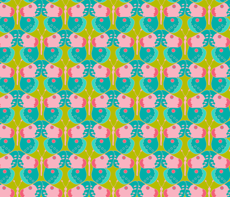 sweet butterflies-01 fabric by sissi-tagg on Spoonflower - custom fabric