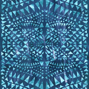 triangle tribal turquoise
