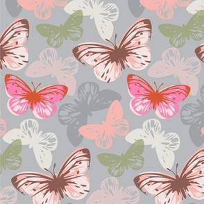 butterfly flutter pink