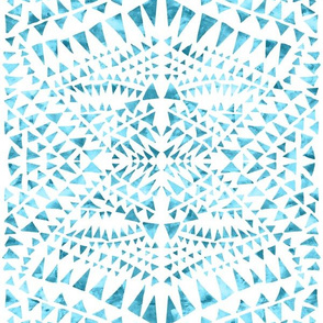 triangle tribal White turquoise