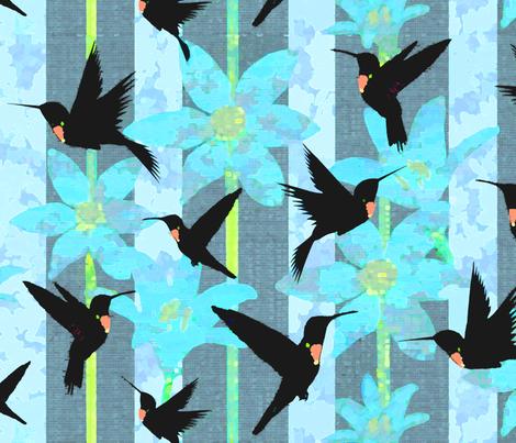 Decor hummingbird fabric by lucybaribeau on Spoonflower - custom fabric